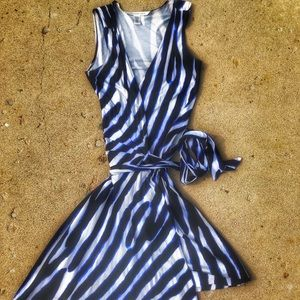 DVF vintage zebra print wrap dress